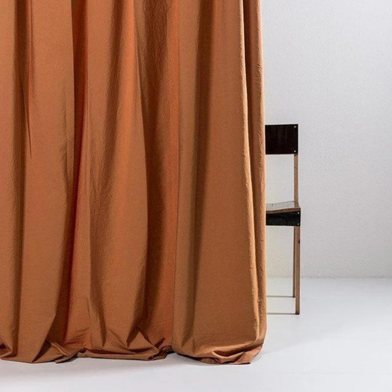 Vorhang Amber ägyptische Baumwolle ZigZagZurich