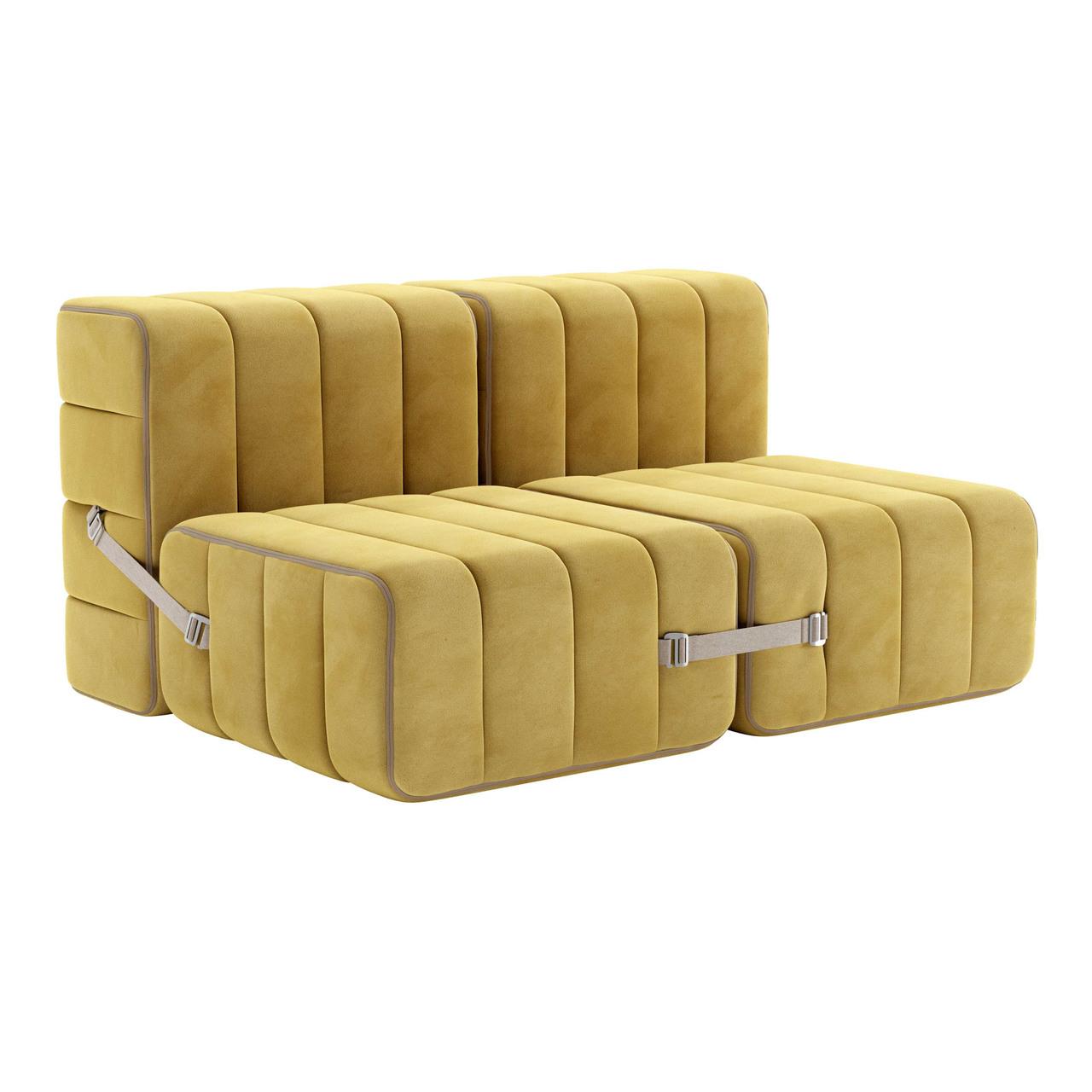 Ambivalenz Flexibler 2-Sitzer 'Curt' Cornhusk (Gelb)