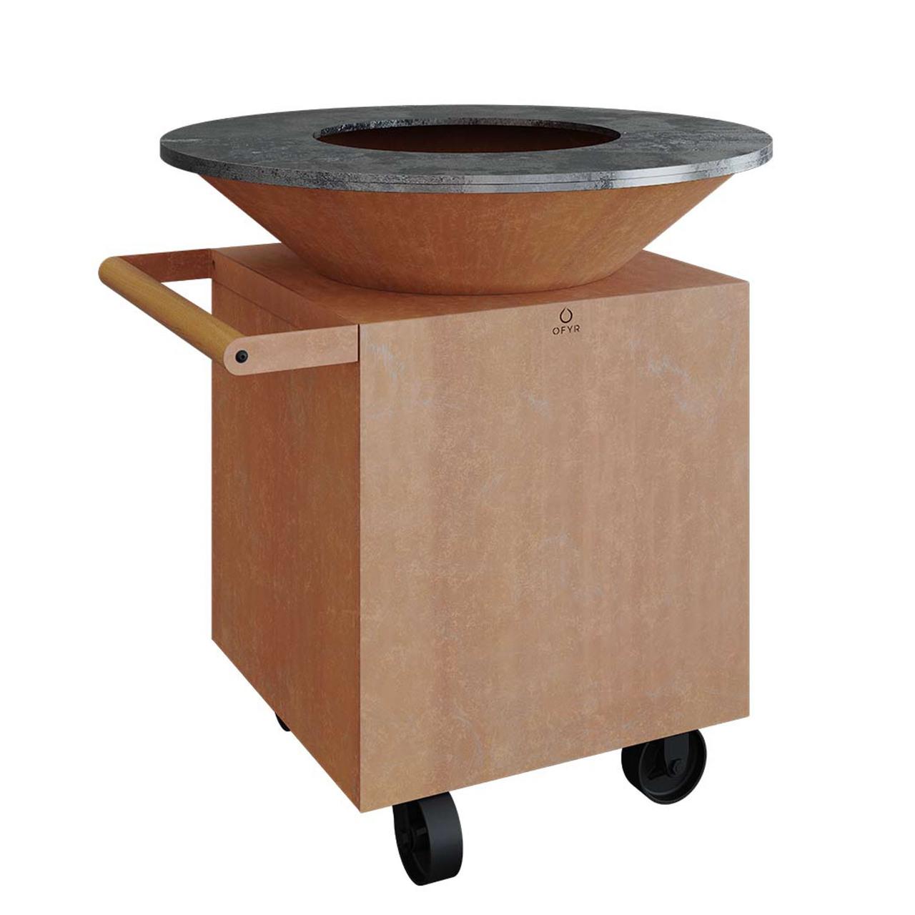 Ofyr Grill-Outdoorküche 'Classic 100 Pro' Corten-Stahl