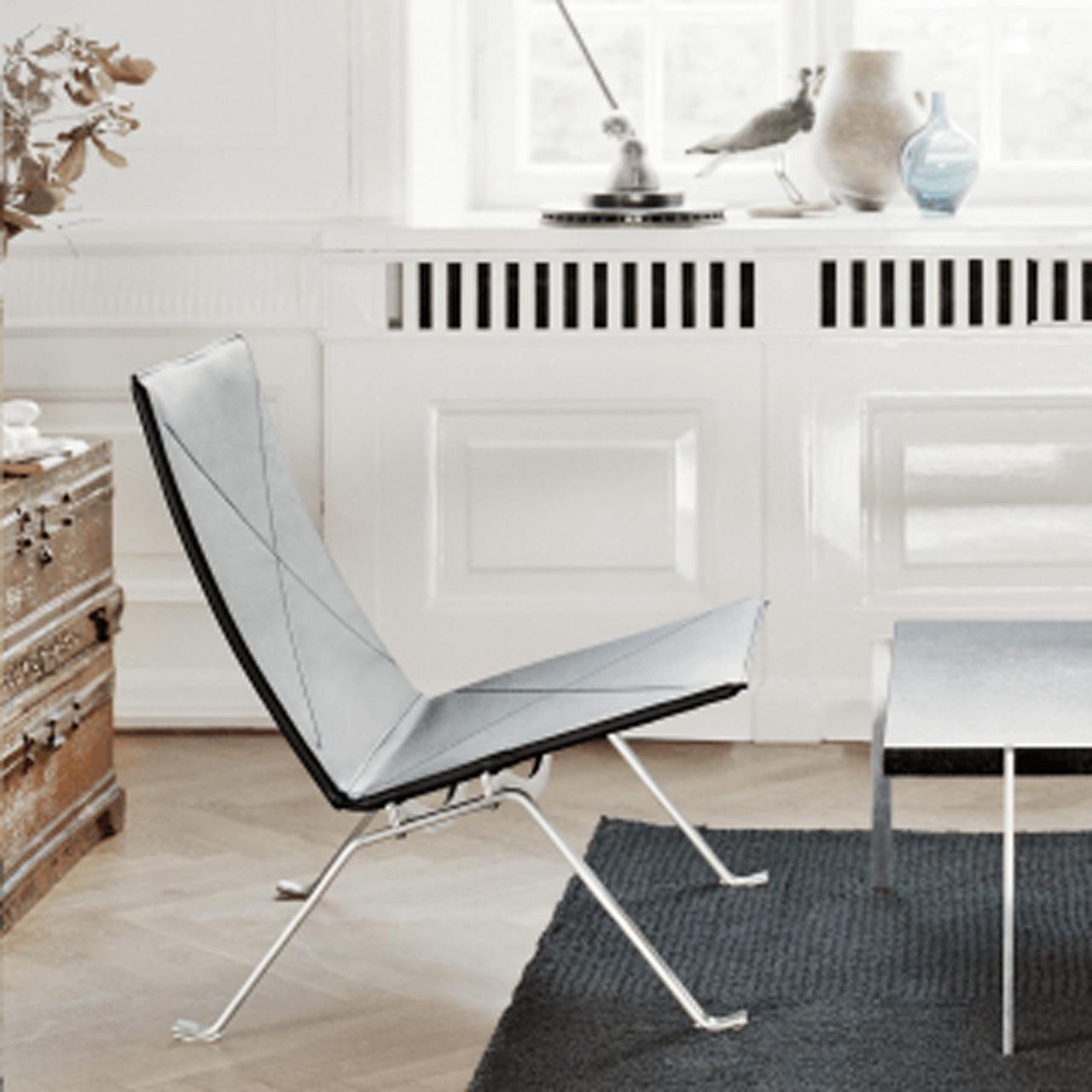 Fritz Hansen Loungesessel 'PK22' in Leder