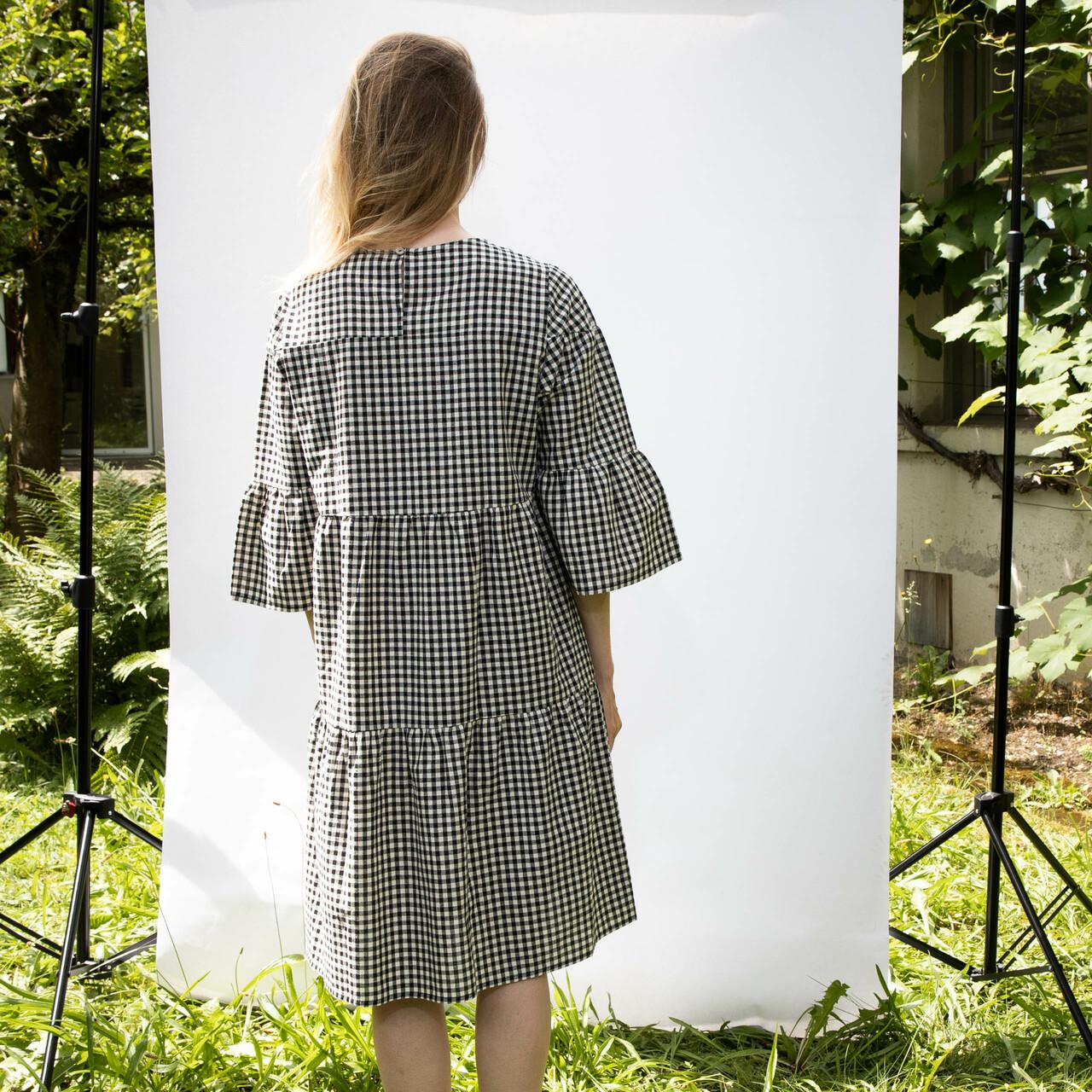 Anja Sun Suko  Vichy-Karo Kleid von 'Anja Sun Soku' S, Schwarz/Weiss
