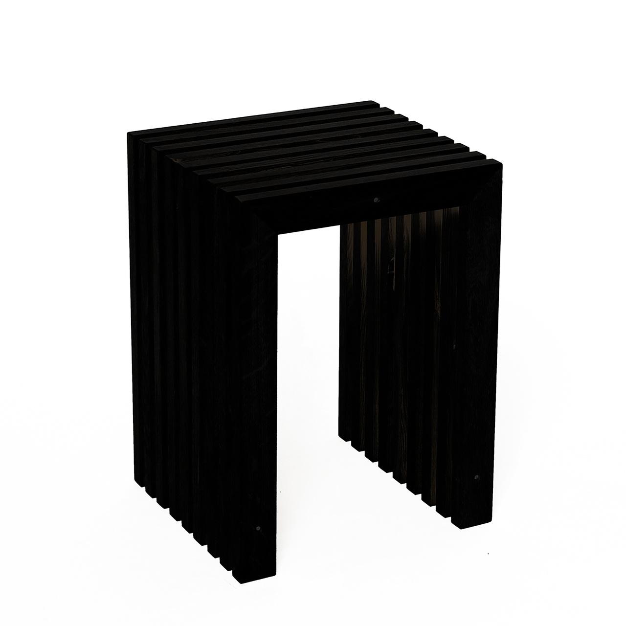 Raumgestalt Hocker aus Eiche von 'Raumgestalt' Eiche schwarz gebeizt