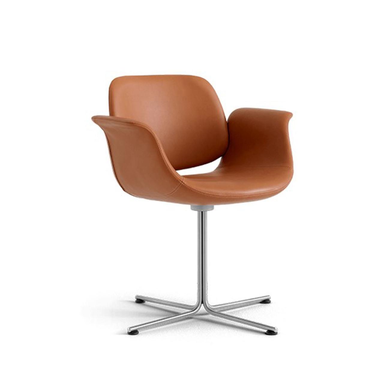 Erik Jørgensen Flamingo Chair Fest, Cognac 75 - Primo, Schwarz lackiert