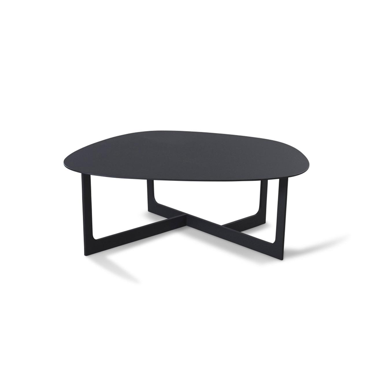 Erik Jørgensen Insula Table Aluminium schwarz, B: 72 cm / T: 78 cm