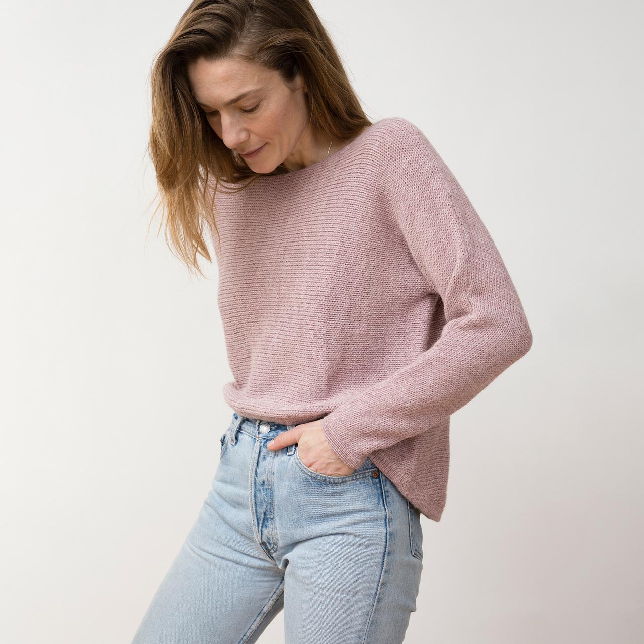 Nieve Sweater von 'Jungle Folk' in Himalaya Pink