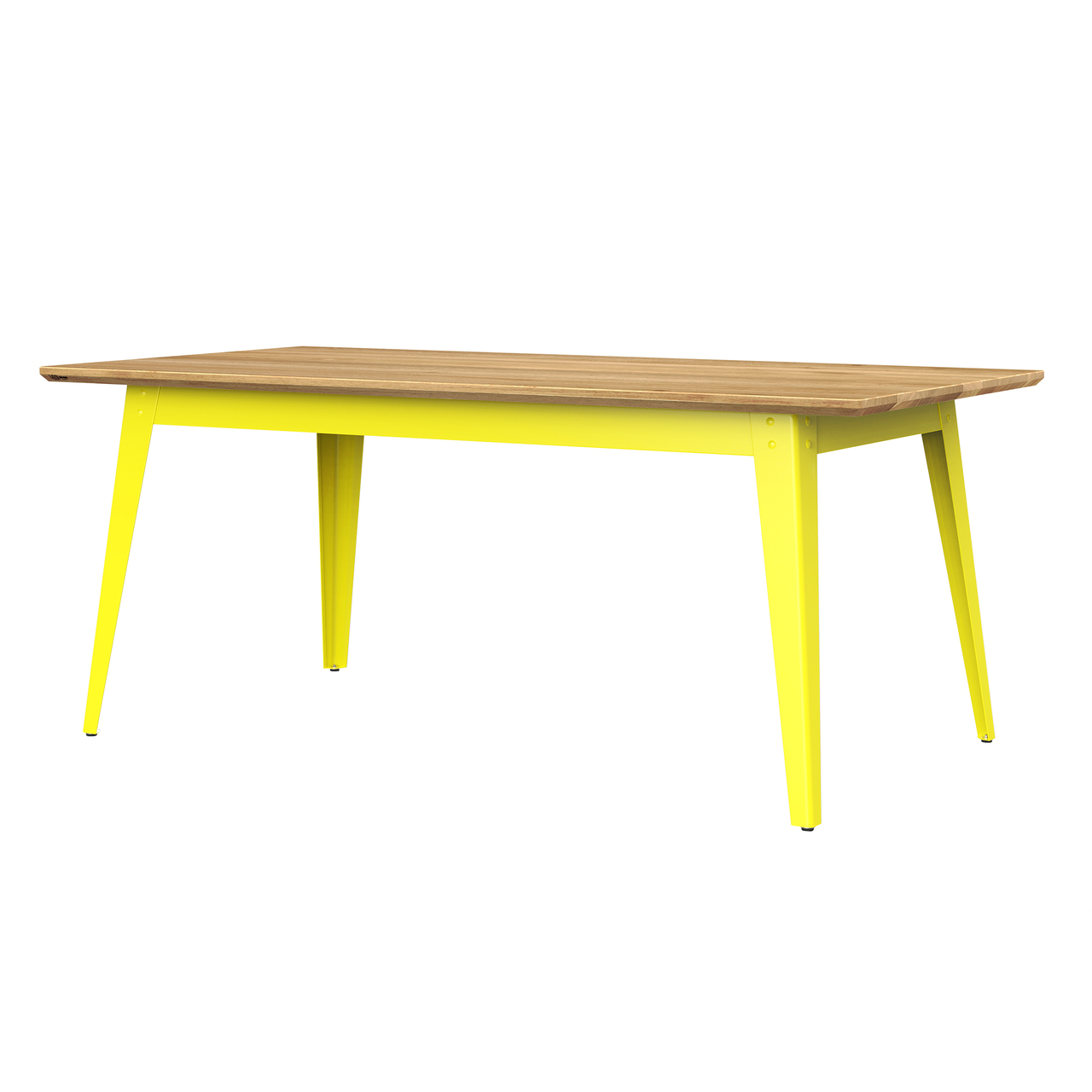Jan Cray 6Grad Tisch Holz Schwefelgelb, Eichenholz geölt, B: 70 cm / L: 120 cm