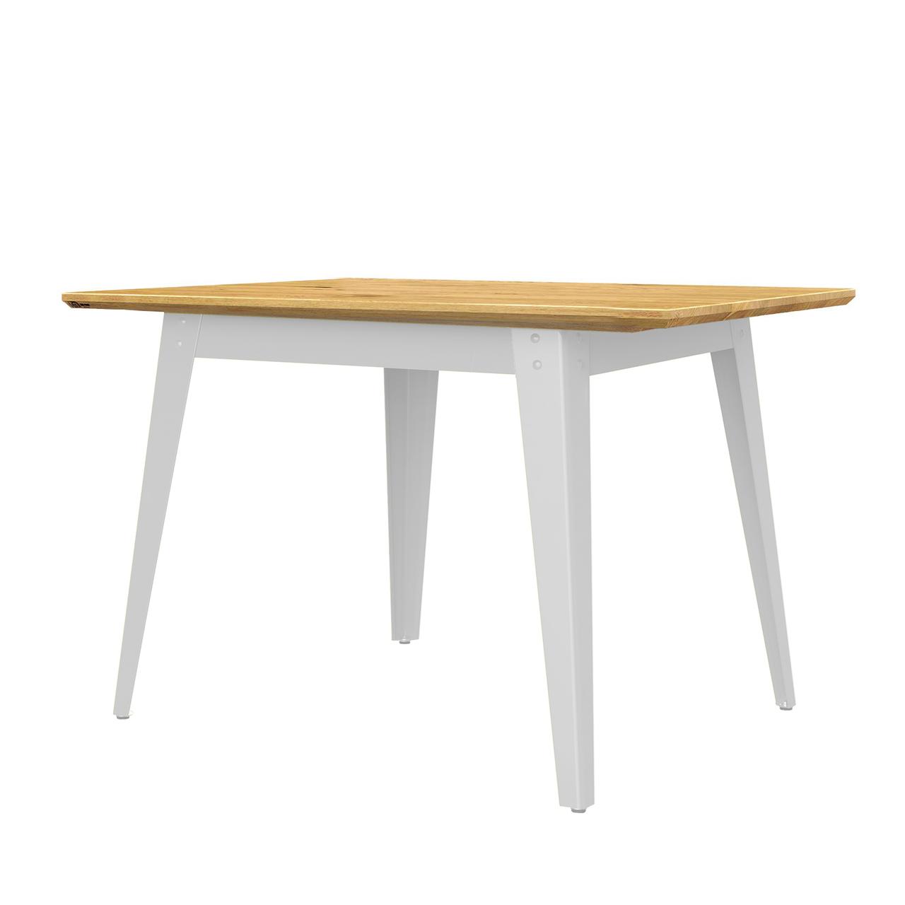 Jan Cray 6Grad Tisch Holz Weiss, Wildeiche geölt, B: 70 cm / L: 70 cm