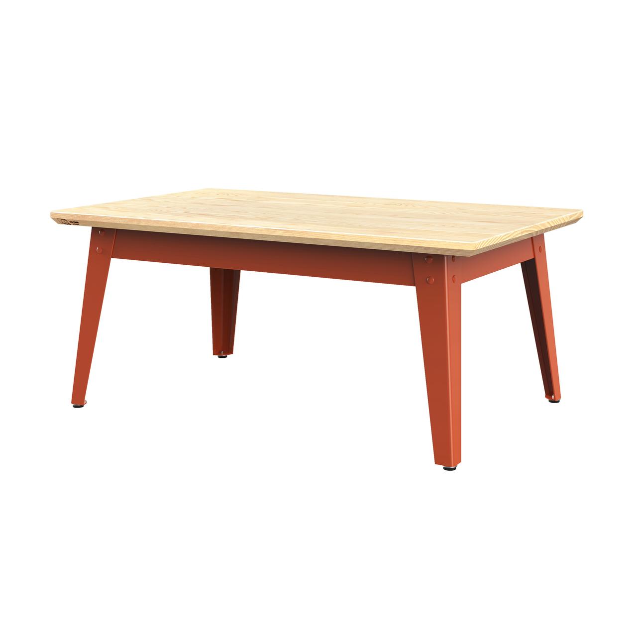 Jan Cray 6Grad Couchtisch Holz Rotorange, Eschenholz geölt, B: 55 cm / L: 90 cm / H: 40 cm