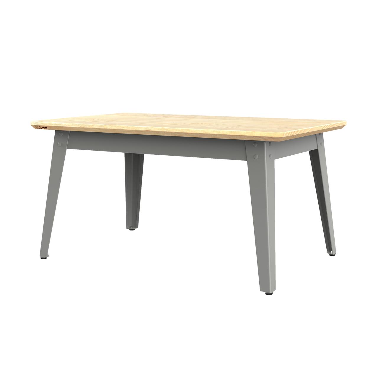Jan Cray 6Grad Couchtisch Holz Hellgrau, Eschenholz geölt, B: 55 cm / L: 90 cm / H: 46 cm