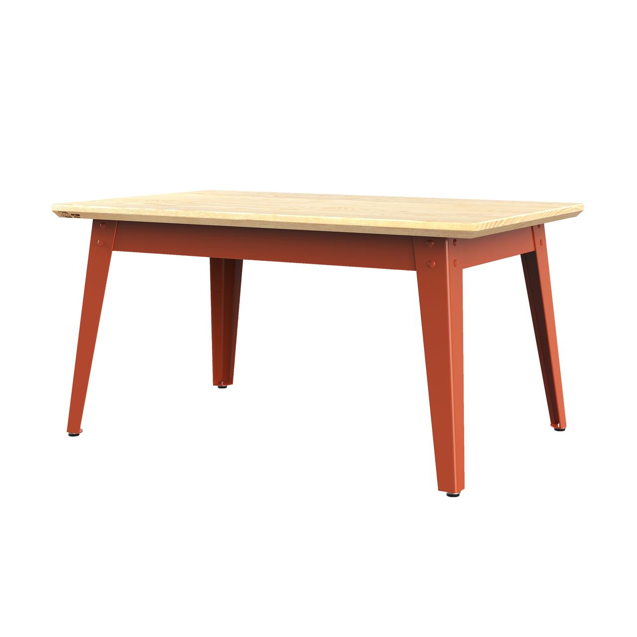 Jan Cray 6Grad Couchtisch Holz Rotorange, Eschenholz geölt, B: 55 cm / L: 90 cm / H: 46 cm