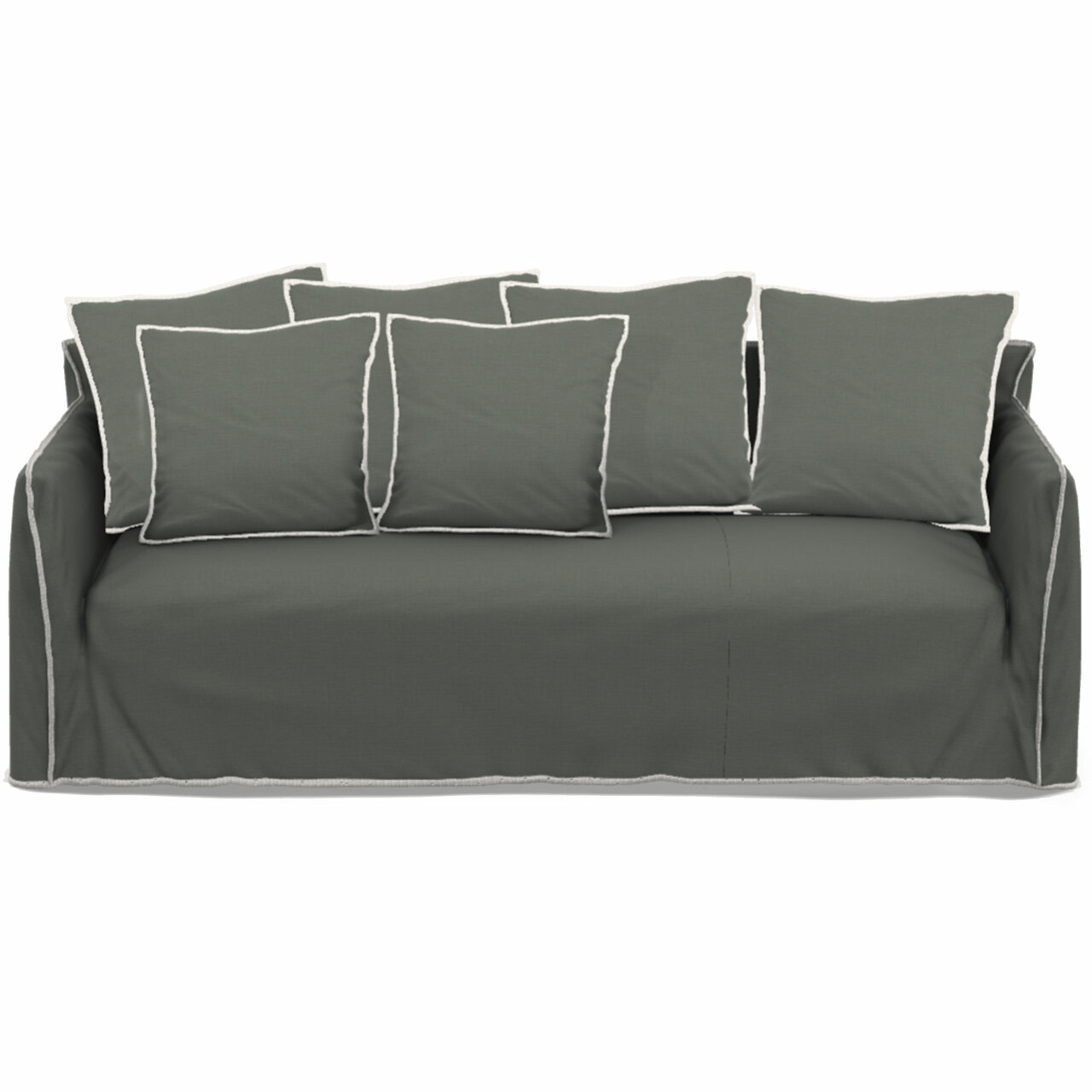 Gervasoni Sofa 'Ghost' B: 260 cm / T: 100 cm , Grafite - Furby