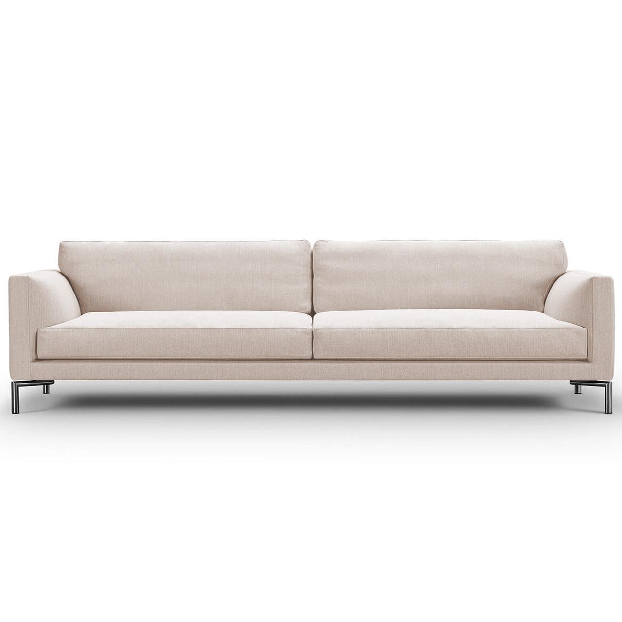 Eilersen Sofa Mission Seidengrau 57 - Sand, B: 240 cm, festsitzend