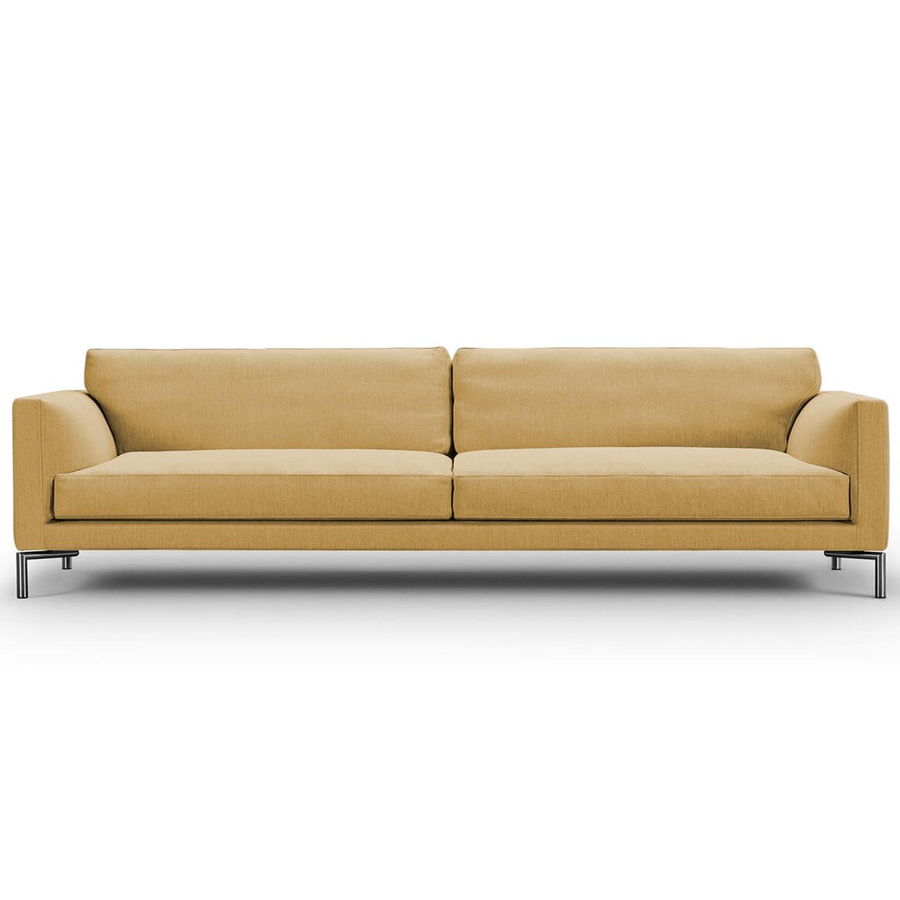 Eilersen Sofa Mission Ockergelb 18 - Nature, B: 240 cm, festsitzend