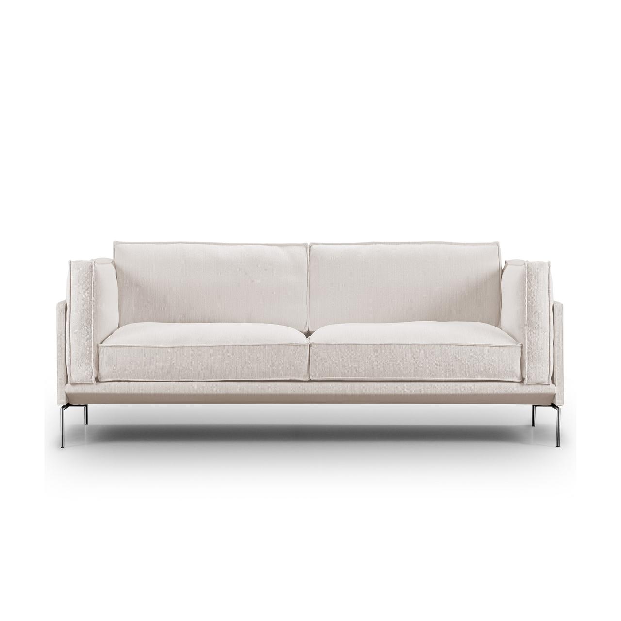 Eilersen Sofa 'Slimline' Hellgrau 20 - Gravel, B: 180 cm , Gebürsteter Edelstahl