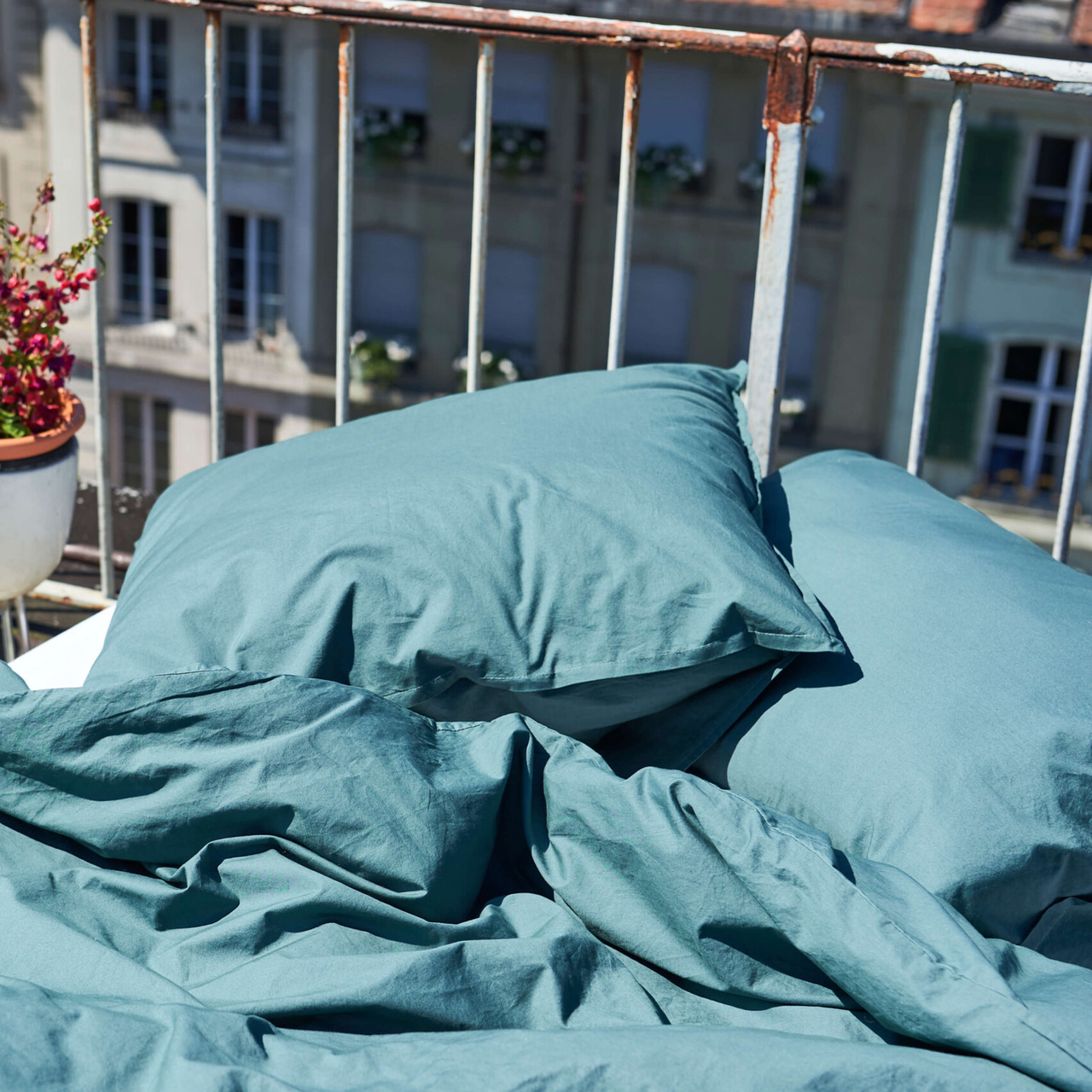 Lavie-Home Bettwäsche 'Louise' Dunkelgrün, Kissen 50 x 70 cm