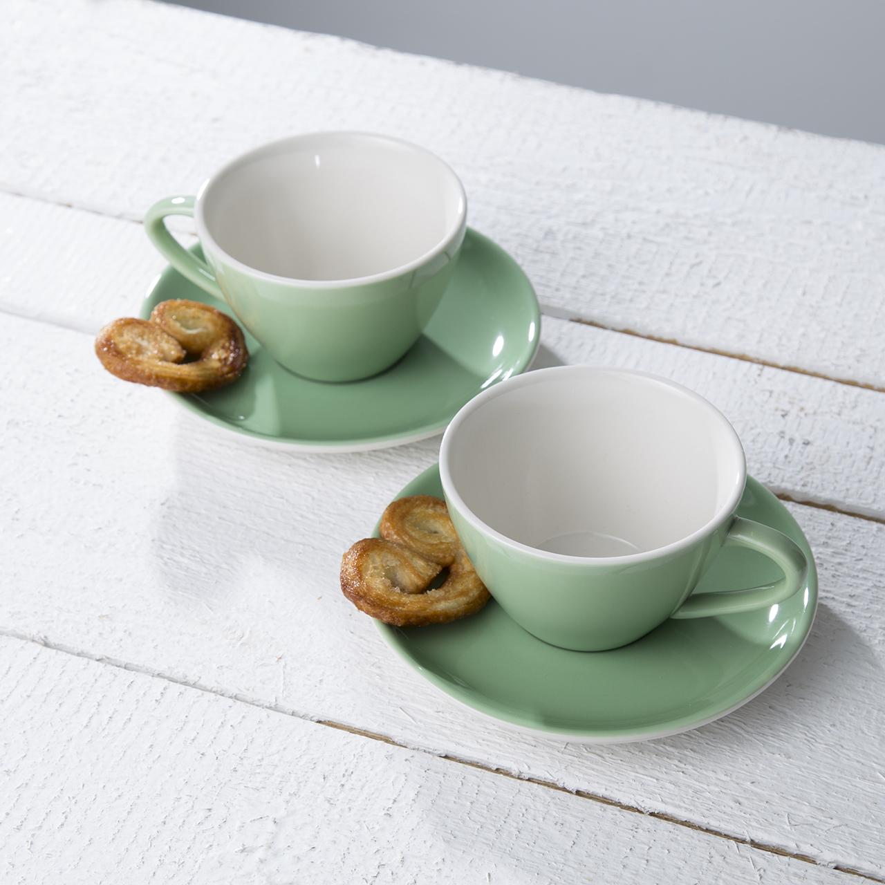 2er Set Kaffee '60s' in Mint 02