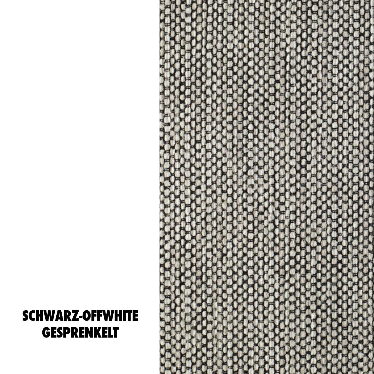 Stoffmuster Eilersen Termoli 127 Schwar-Offwhite gesprenkeltt