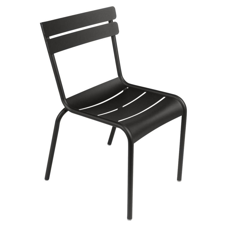 Lakritze Stuhl Luxembourg ohne Armlehne Fermob