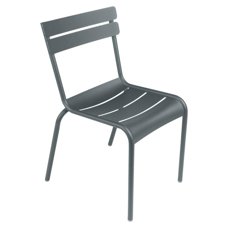 Gewittergrau Stuhl Luxembourg ohne Armlehne Fermob