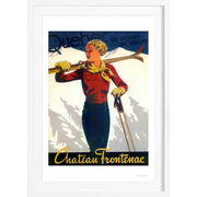Ski-Print im Vintage-Look