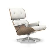 'Eames Lounge Chair' in Nussbaum weiss pigmentiert