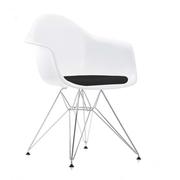 Eames Plastic Armchair 'DAR' mit Sitzpolster