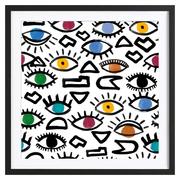 Kraftvoller Kunstprint 'Geometric Eyes'