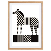Kunstprint 'Zebra Stripe' von Greg Marbly