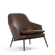 Einzelstück: Sessel 'Hug' in braunem Leder