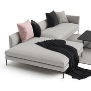 Sofa 'Blade' mit Chaiselongue