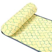 Outdoormatte in Grau-Gelb