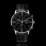 Automatik-Armbanduhr 'Silberstone' mit Lederband