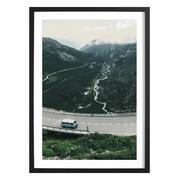 'Swiss Alps' Bild mit Holzrahmen