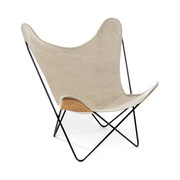 'Butterfly Chair' in Leinen