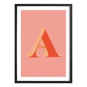 Gerahmte Typografie für deine Wand