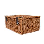 Picknick-Koffer mit Lederverschluss