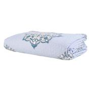 Lavendelfarbener Quilt aus Baumwolle