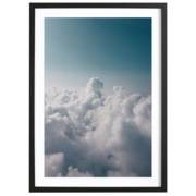 Über den Wolken: Gerahmtes Bild 'Clouds I'