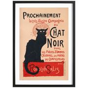 Pariser Flair: Gerahmtes Bild 'Chat Noir'