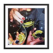 Moderne Ölmalerei: Gerahmter Print 'Martini'