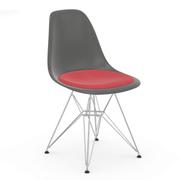 Eames Plastic Side Chair 'DSR' mit Sitzpolster