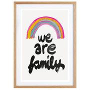 Gerahmtes Bild 'We are Family'