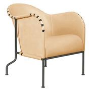 Easy Chair aus Leder & Stahl