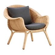 Easy Chair 'Madame' aus Rattan