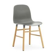 Stuhl 'Form' mit Holzbeinen