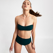 Bandeau-Bikini- Set von 'Volans' in Dunkelgrün