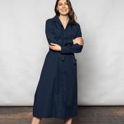 Letzte Stücke: Luftiges Baumwollkleid in Navy