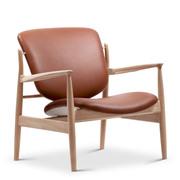 'France Chair' in Leder