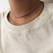Feminine 'Moonstone'-Halskette in Pfirsich