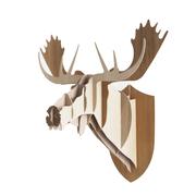 Stecken statt Schiessen: Holz-Trophäe Elch